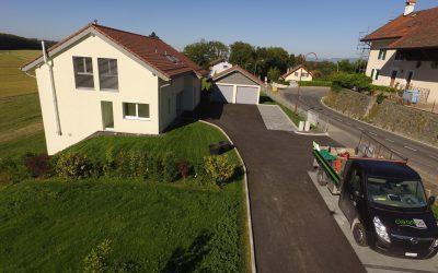 Aménagements extérieurs fin de chantier de deux villas