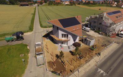 Aménagements fin de chantier d'une villa
