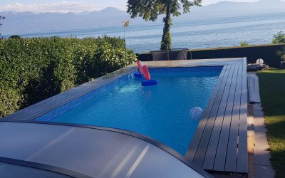 Réfection d'une terrasse en bois autour d'une piscine