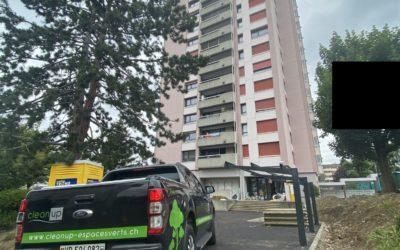 Réfection extérieurs d'une tour d'habitation à Prilly